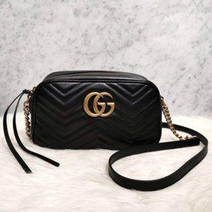 NWT Gucci Marmont Matelasse BLACK LeatheR